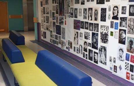 Sofa poczekalnia biuro miejsca publiczne