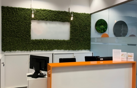 Zieleń w biurze instytucja finansowa