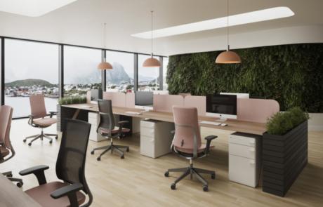 Aranżacja krzesła biurowe