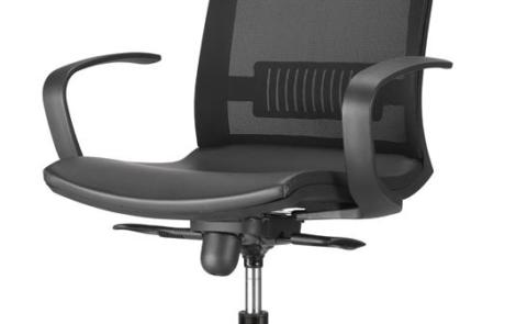 Fotel biurowy elegancki, siatkowany
