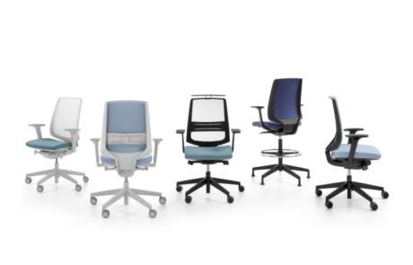 Grupa foteli krzeseł biurowych