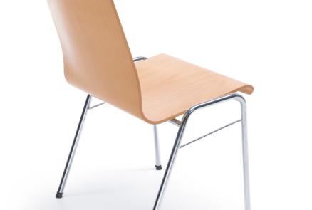 Krzesło konferencyjne drewniane