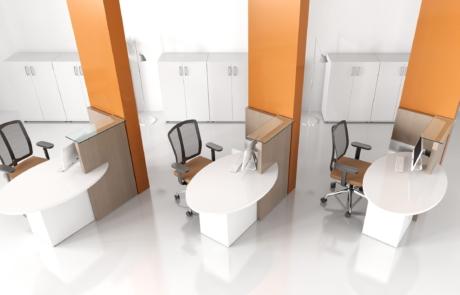 Meble lada biura obsługi klienta