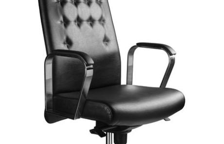 Skóra aluminium fotel biurowy