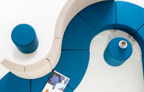 Sofa dopasowanie świeży wygląd biura poczekalnia