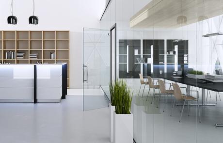 Szklana lada nowoczesne materiały meble