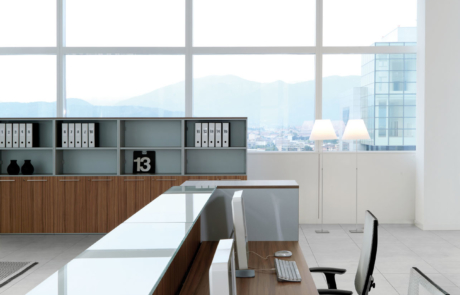 Szlachetne drewno nowoczesność recepcion desk