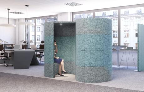 Nowoczesne wnętrza budka akustyczna praca w ciszy