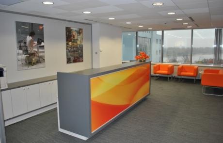 Nowoczesna lada projekt bank biuro