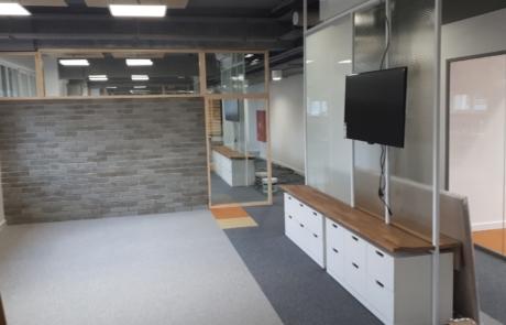 Ścianka oddzielająca cegła beton podział pomieszczeń