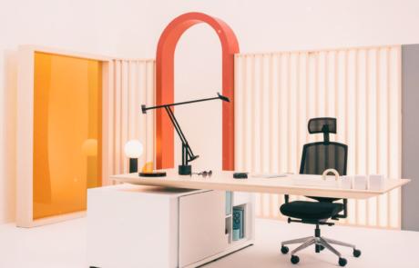 Jasne nowoczesne biurko gabinetowe