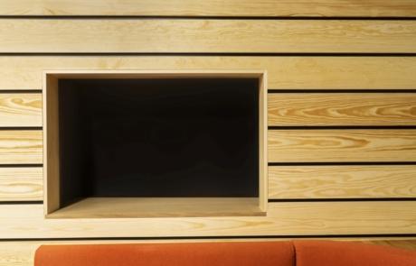 Kanapa lakierowane drewno ognioodporna tkanina