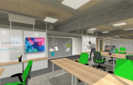 Wizualizacja koncepcyjna biuro perspektywa