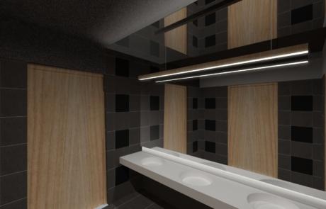 Wizualizacja koncepcyjna wyposażenie łazienki