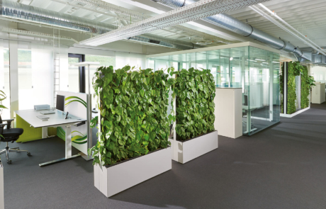 Green Wall Office Design Interiors