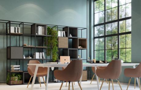 Regały metalowe biuro dom design