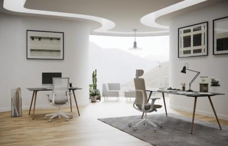 Elegancki nowoczesny fotel aluminiowy